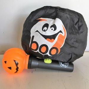 Other - Pumpkin Flashlight & Collapsing TrickorTreat Bag